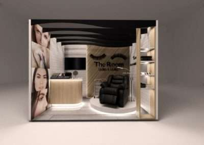 Diseño de stand marca The Room