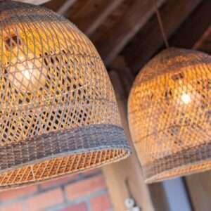 Lámpara Fibras en Mimbre